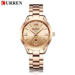 Image 3 - Watch Women 2019 Top Brand Luxury Rose Gold Curren Stainless Steel Watch Womens Wristwatch Clock Women relogio feminino 2019