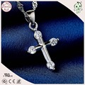 Good Quality And Cheap Price Simple Church Style 925 Real Silver Crossing Pendant