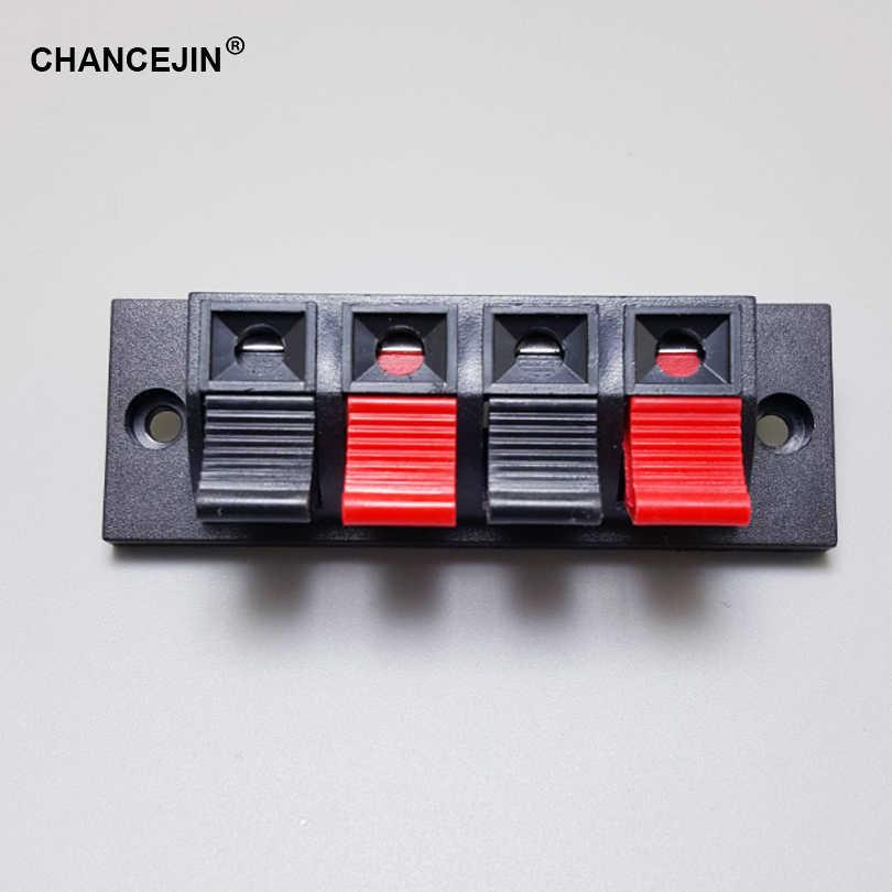 4 piny 4 pozycje złącze czerwony i czarny podłączony zacisk sprężynowy uchwyt wtykowy może być używany w terminalu głośnikowym gniazda zasilania DIY