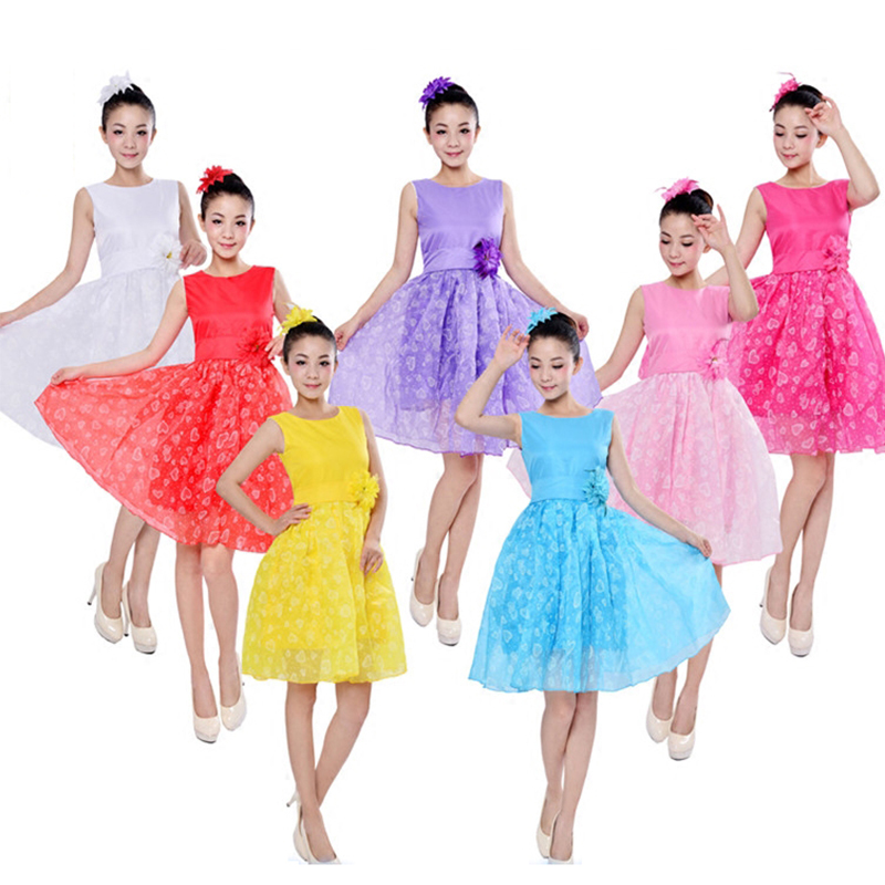 Girl Tutu Dress Ballet Dance Dress Performance Clothes Shiny Dancewear Ballroom Competition Practice Clothing Girl Skirt
