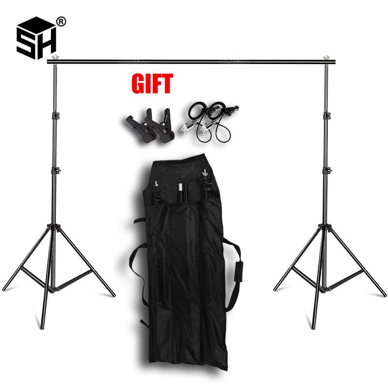 Support de fond Support système Kit Studio professionnel photographie arrière-plans Photo avec étui de transport Clip pour papier Muslins etc.
