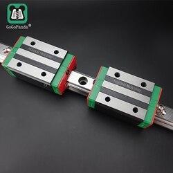 Liniowy przewodnik HGH15 L = 150 200 250 300 350 400 450 500 550 600 1000 mm liniowe szyny droga + HGH15B lub HGW15A długi wózek liniowy