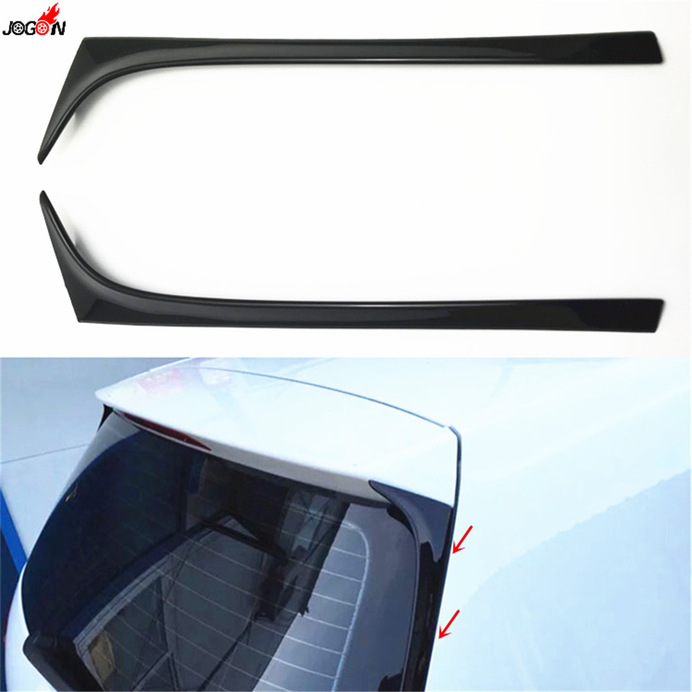 Gloss Black Side Rear Wing Spoiler Lip Cover Trim Sticker For Volkswagen VW <font><b>GOLF</b></font> 7 MK7 7.5 GTI GTD <font><b>R</b></font> 2014 2015 2016 2017 <font><b>2018</b></font> image