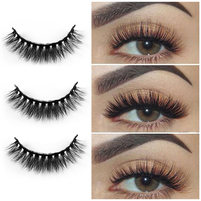 19fe564a007 5 Pairs Makeup 3D Mink Hair False Eyelashes Handmade Cross Long Messy Fake  Eye Lashes Eyelashes
