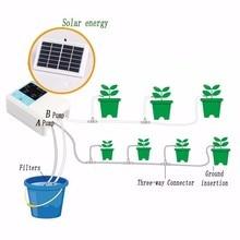 1/2 Pompa dellacqua Timer Intelligente Giardino Sistema di Irrigazione Automatico di Irrigazione del Dispositivo di Ricarica A Energia Solare di Pianta In Vaso A Goccia