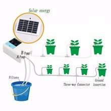 1/2 Wasserpumpe Timer Intelligente Garten Automatische Bewässerung System Bewässerung Gerät Solar Energie Lade Topfpflanze Tropf