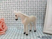 cute simulation horse toy polyethylene & furs mini white horse model gift about 10x5x9cm