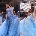 Vestido Longo 2017 New High Quality Evening Dress With Appliques Custom Made Sexy Scoop Neck Prom Dresses Long