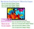 Universal 10.1 11.6 12 12.5 13.3 14.6 15.6 pulgadas 16:9 Mate protector de pantalla Anti-reflejo película protectora de la tableta portátil equipo