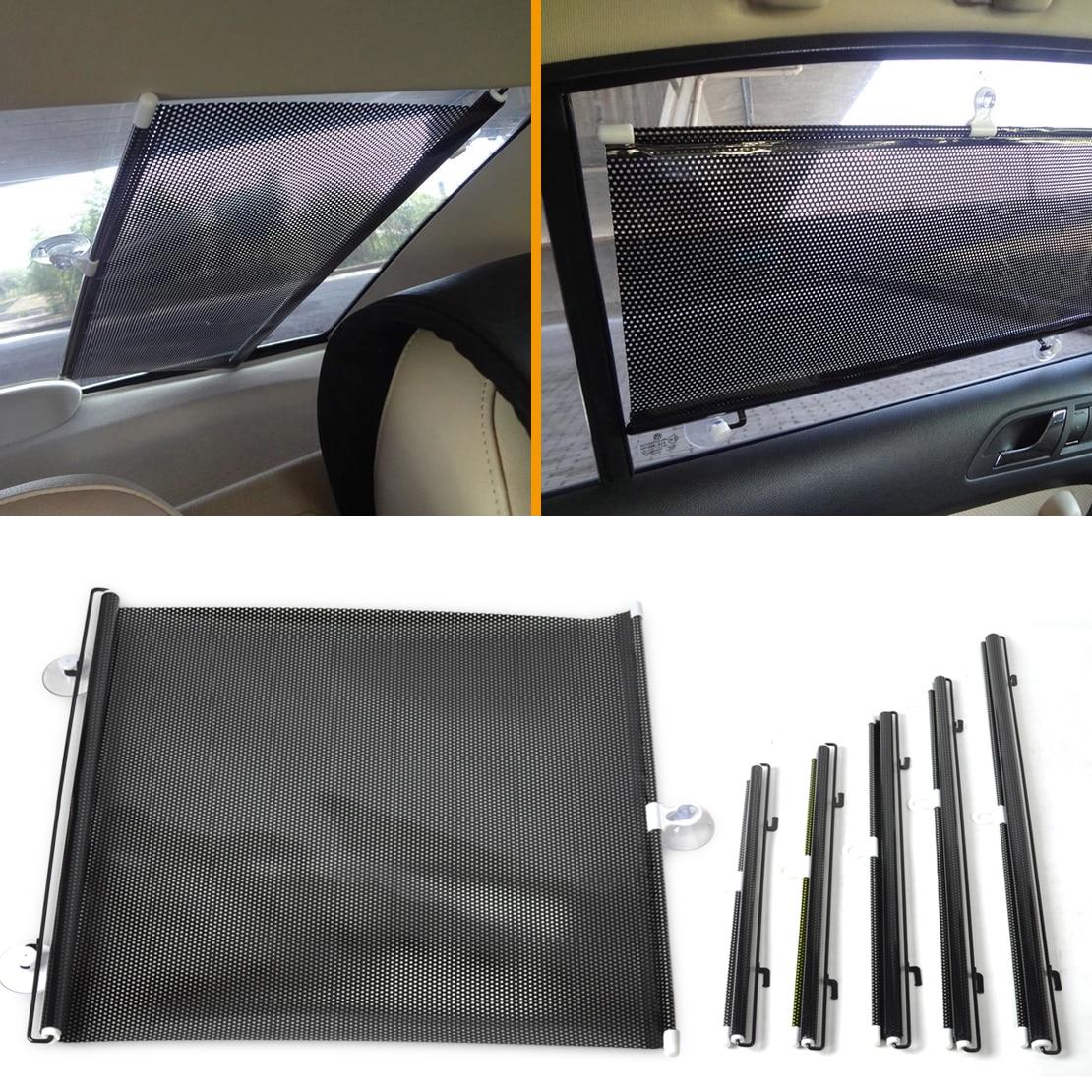 DWCX 40x60 cm Araba Ön / Arka Geri Çekilebilir Cam Pencere Güneşlik Güneşlik Güneş Gölge Perde Ford Audi Için Honda Toyota Toyota BMW VW