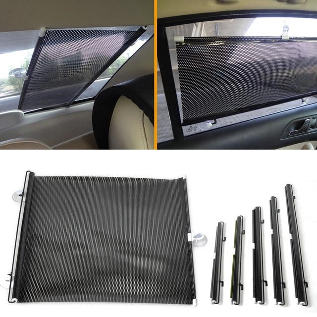 DWCX 40x60cm Car Front   Rear Retractable Windshield Window Sunshield Visor  Sun Shade Curtain For Ford Audi Honda Toyota BMW VW 9c4e846d3f1