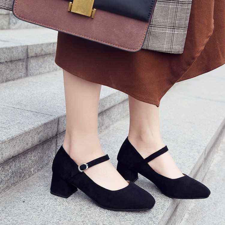 US $14.7 79% OFF|Big Size 11 12 ladies high heels women shoes woman pumps One word buckle single shoe in Women's Pumps from Shoes on AliExpress