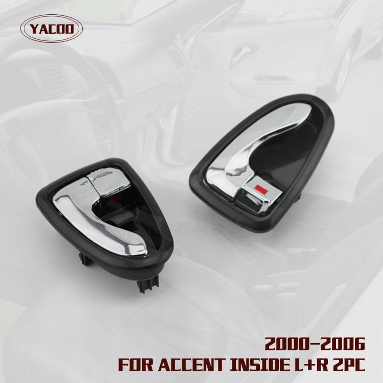 1pair Interior Door Handle For Hyundai Accent Verna 2000 2006 2000 2001 2002 2003 2004 2005