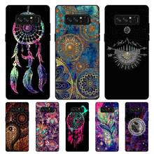 P113 Mandala Newest Black Silicone Case Cover For Samsung Galaxy Note 3 4 5 8 9 10 Plus M10 M20