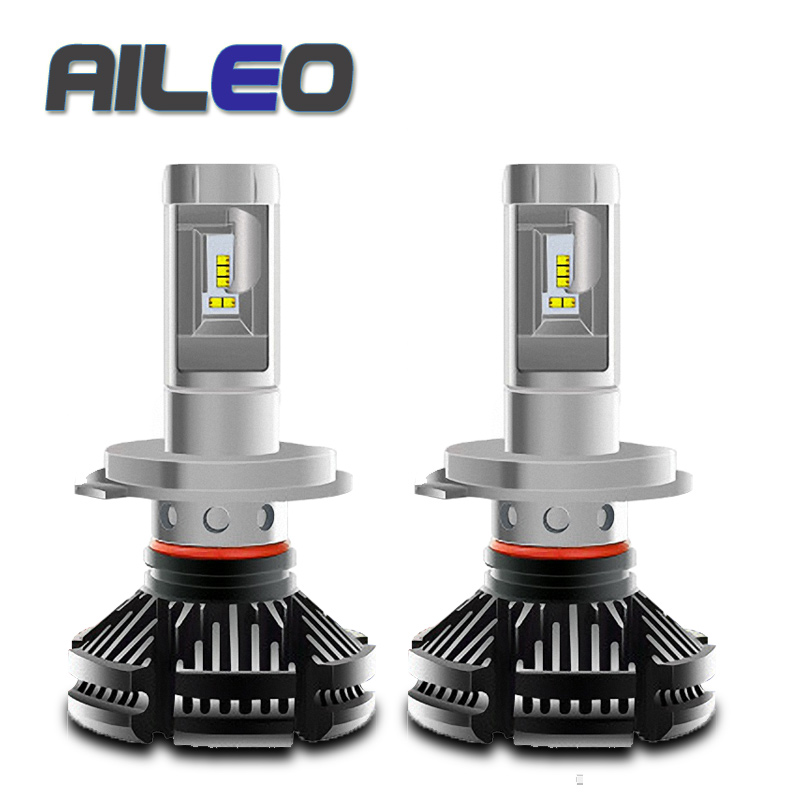 AILEO 2 Pcs Auto <font><b>Headlight</b></font> <font><b>h4</b></font> <font><b>led</b></font> High Low Beam H1 H3 H7 <font><b>6000LM</b></font> H8 H9 H11 9005 9006 12V 24V <font><b>LED</b></font> <font><b>Headlight</b></font> Bulb Super Bright image