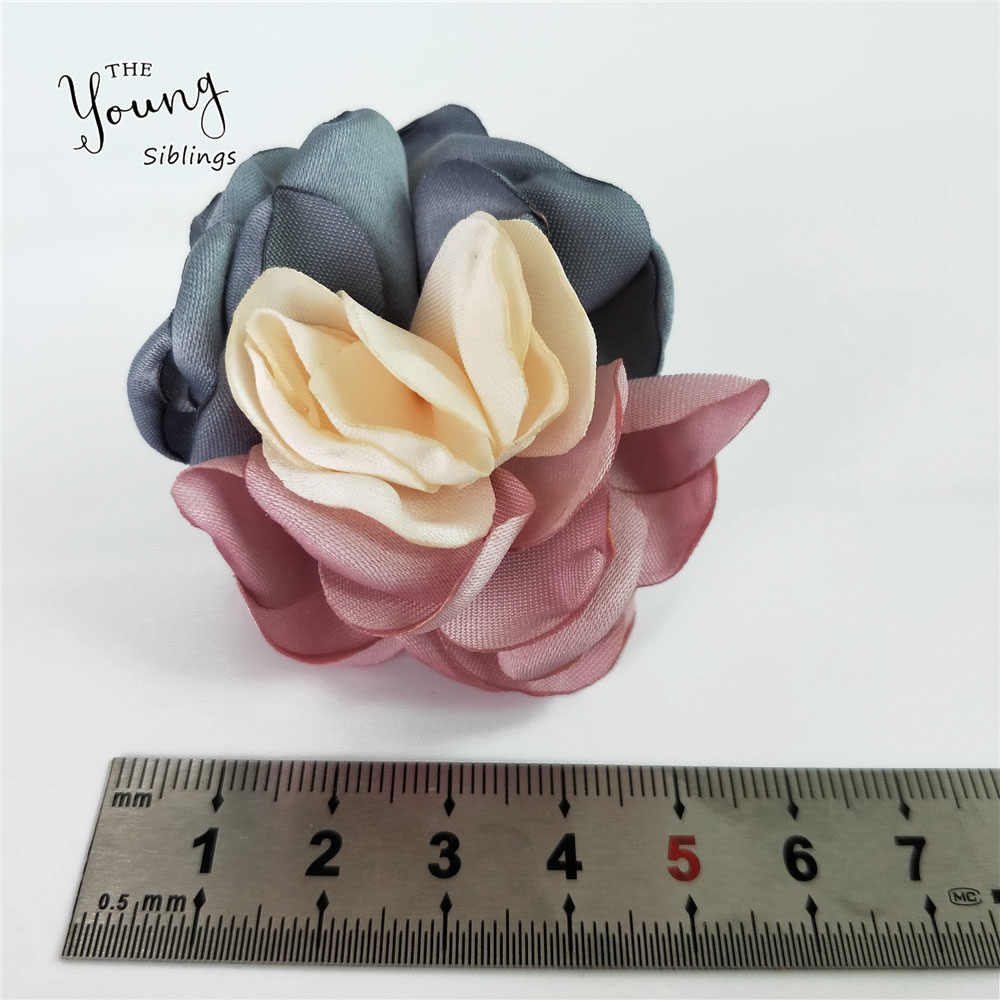 Romance 5.5cm Artificial Flower Rose Heads Silk Flowers For Wedding Decor DIY Wreath Gift Scrapbooking Craft Clothing Accessory