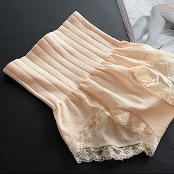 2017 ladies seamless high waist abdomen hip sculpting underwear briefs Modal lace lingerie boutique underpant belly band Pants