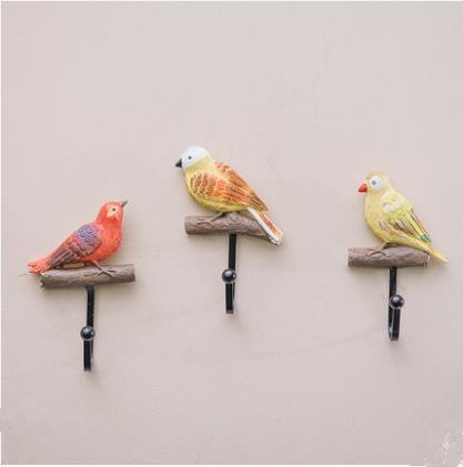 American country hook, creative pastoral three-dimensional bird wall hanging, coat hook, wall hanging crafts dřevěné dekorace do dětského pokoje