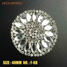 2pcs bianco Clear Pointback strass Patch stile hotfix per donne ricamo badge, applique adesivi fai da te decorazione vestiti