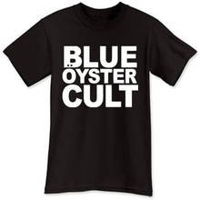 лучшая цена Punk Tops Crew Neck Short Blue Oyster Cult Rock Band Gift Mens Shirts