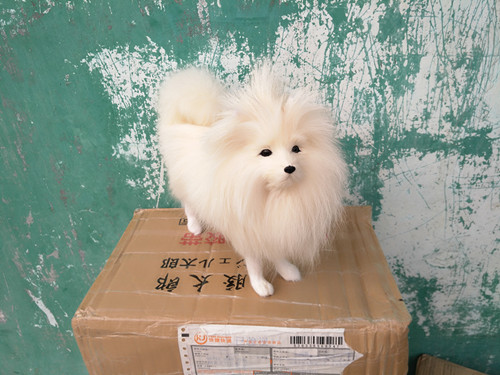 new simulation white dog polyethylene & furs cute white Shih Tzu doll gift about 31x24.5cm 220 simulation squatting dalmatian dog 20x12x25cm model polyethylene