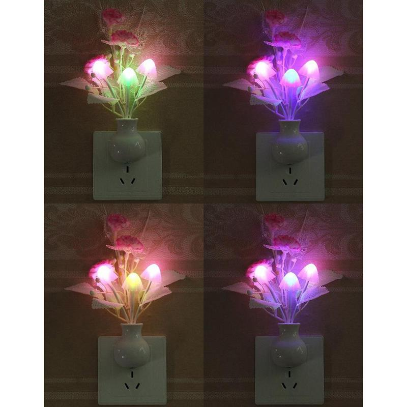 Tulip Flower LED Night Light Soft Romantic Sensor Baby Bed Room