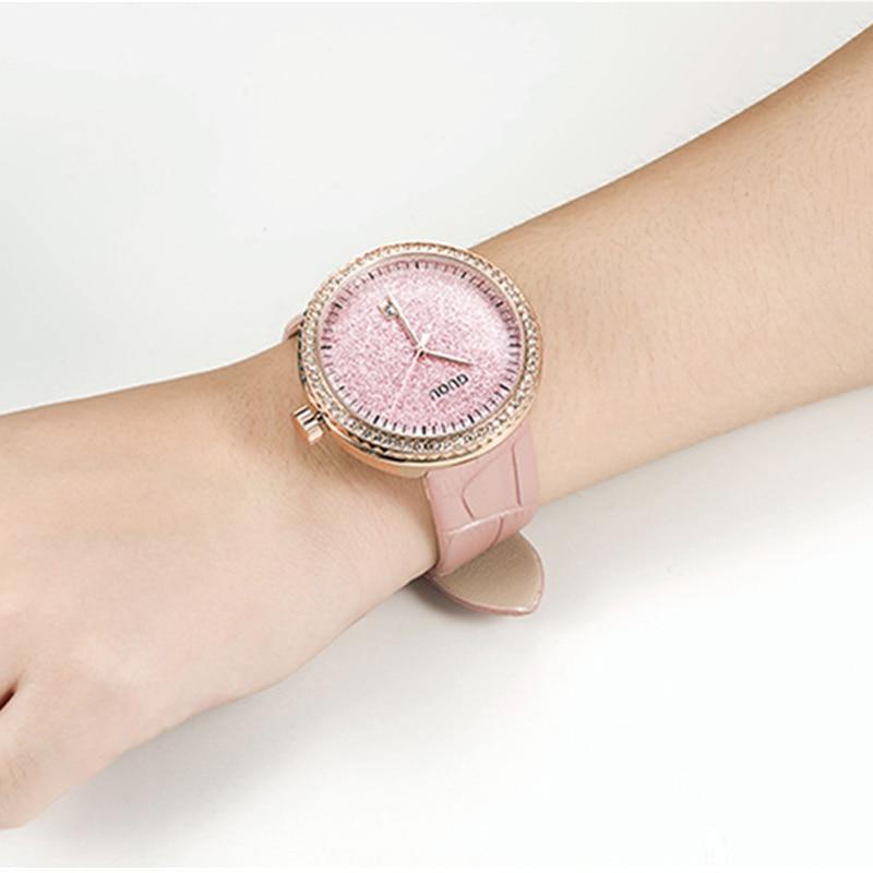 GUOU hodinky Luxusní džíny Diamond hodinky Dámské hodinky - Pánské hodinky