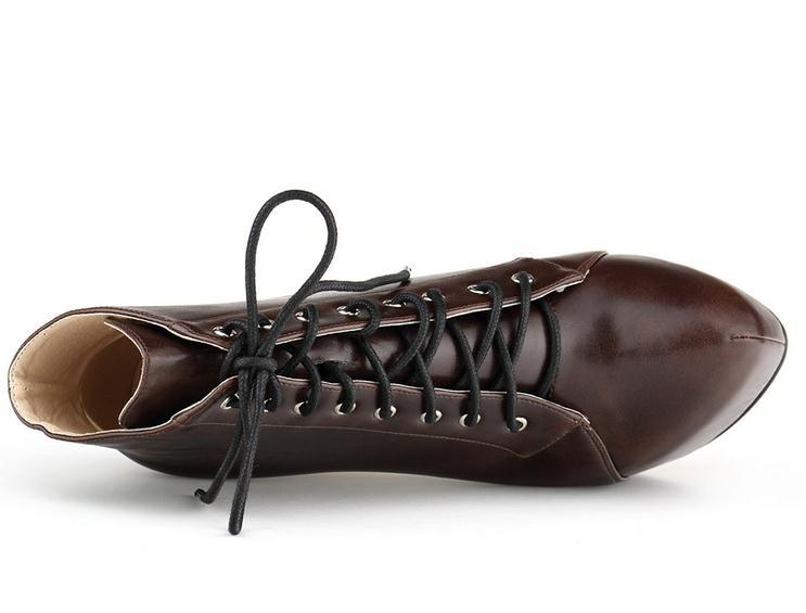 Chaussures Bottes Brown 4 Talon forme 14 Nouvelle De 35 Couleurs Cm red Talons 42 Tan Martin Hauteur chocolate Pompes Black Plate Mode Haute Minces Femmes light Arrivée Twqw6g8