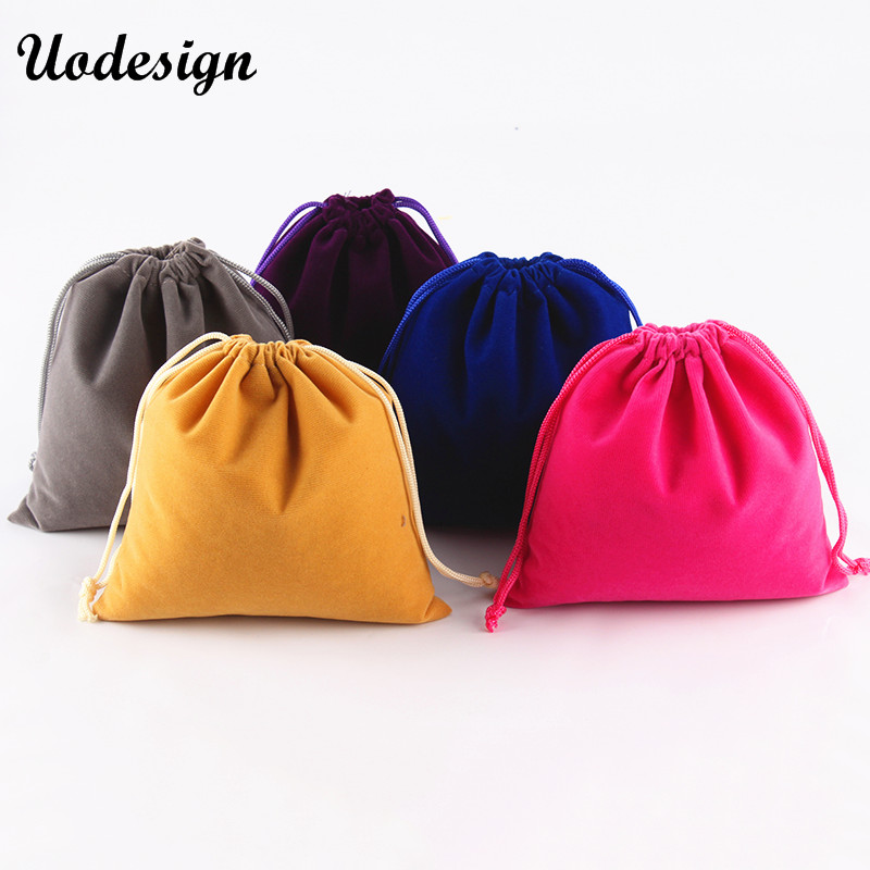 10PCS 15*15cm Jewelry Packing Bags High Quality Soft Christmas Wedding Velvet Drawstring Gift Bags & Pouches Black/Red/Blue
