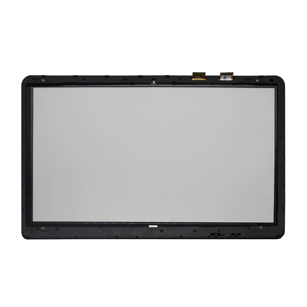 Touch Screen Digitizer Glass + Bezel For HP Pavilion X360 15-BK002CY 15-BK003CY 15 6 touch screen digitizer glass for hp pavilion touchsmart 15 n series replacement free shippng