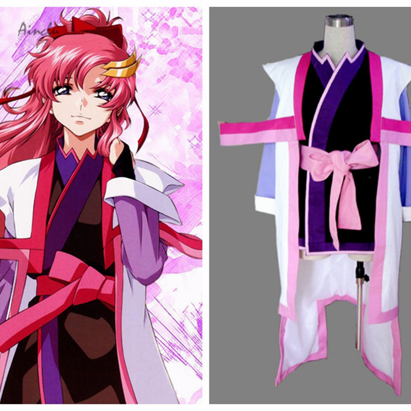 Ainclu Top Selling Mobile Suit Gundam Seed Anime Destiny Lacus Clyne Cosplay Costume For Halloween Customize for plus size