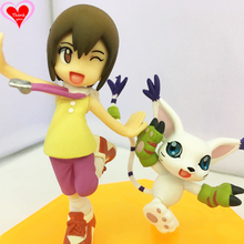 Love Thank You Digimon Adventure Tailmon Yagami Hikari KARI CAT 10 cm PVC Anime Figure Toy Collection model gift New Hobby