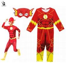 Die Flash Kostüm Kinder Halloween Kostüme für Jungen Overalls Superhelden Cosplay Kostüme Kinder Festliche Partei Liefert