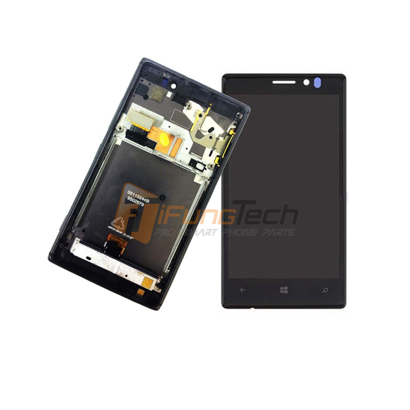 ФОТО Black lcd for nokia lumia 925 LCD display touch screen Digitizer with frame Assembly Replacement Parts free shipping