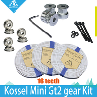 HOT GT2 Gear Kit 3X 2M PU Timing Belt GT2 16 Tooth Wheel Timing Pulley Bore