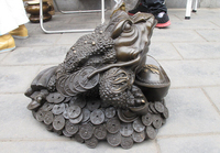wholesale factory Chinese Royal Bronze Blessing Money Spittor Frog Lucky Fengshui huge statue