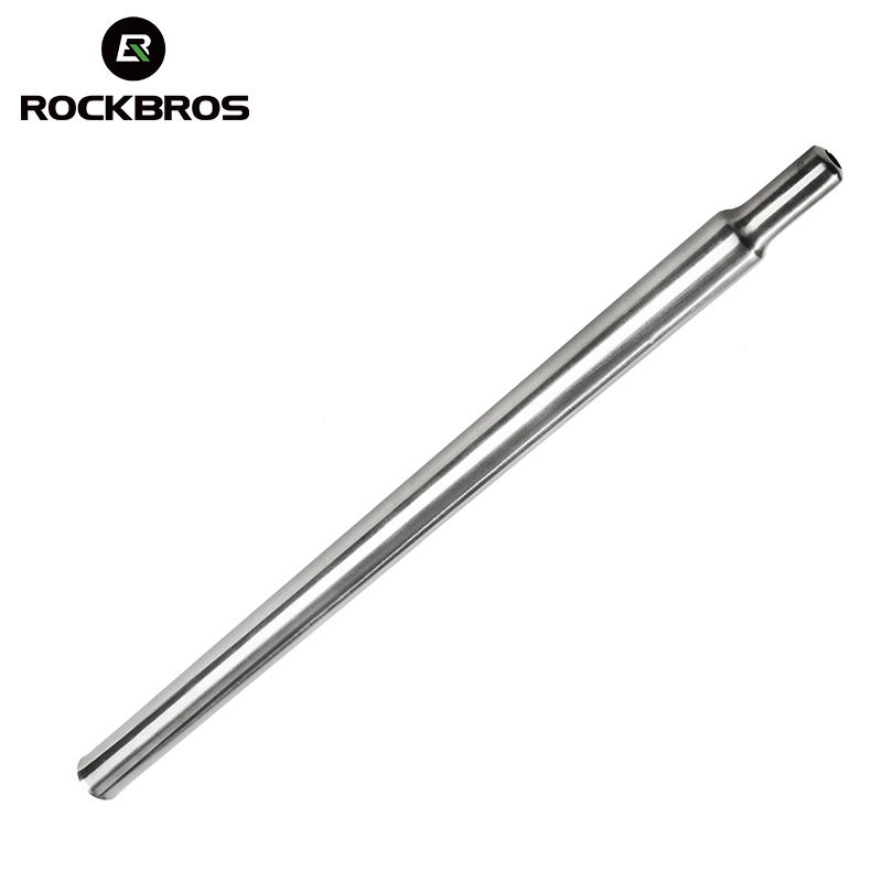 ROCKBROS Titanium Alloy Cycling Bicycle Seatpost 31.8mm*535mm & 600mm 3AL2.5V CNC Seat Post Bike Parts For Brompton Folding Bike
