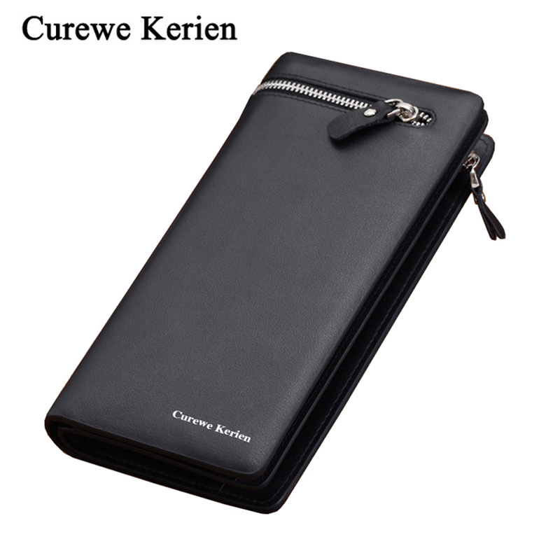 Luxury Fashion Men Wallet Male Purse Clutch Handy Perse Phone Walet Long Cuzdan Slim Vallet Card Holder Money Bag Pocket Klachi