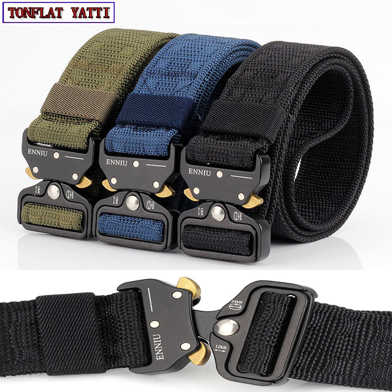 2018 Military Tactical Quick Metal Buckle Belt 1000D Oxford Wear Resistant Outdoor Fighting Molle Nylon Versatile Belt 5 colors universal waist belt bag pouch outdoor tactical holster military molle hip purse phone case