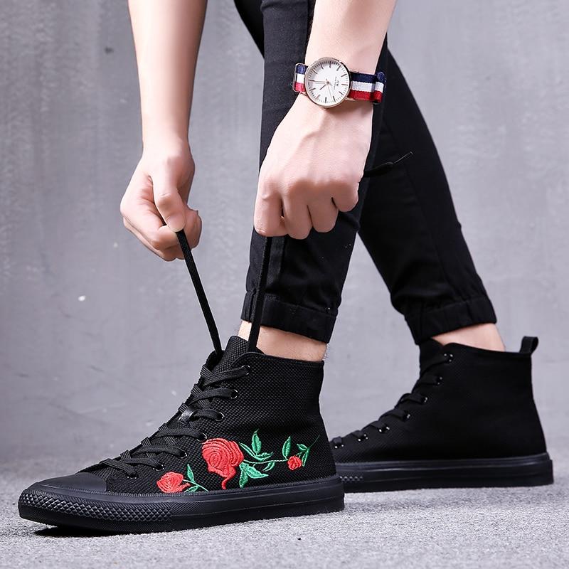 Hommes Mode Masculina 2018 High Marque Luxe Casual Heinrich Botas Sneakers Bottes Chaussures Cheville Top De Black 8nN0wm