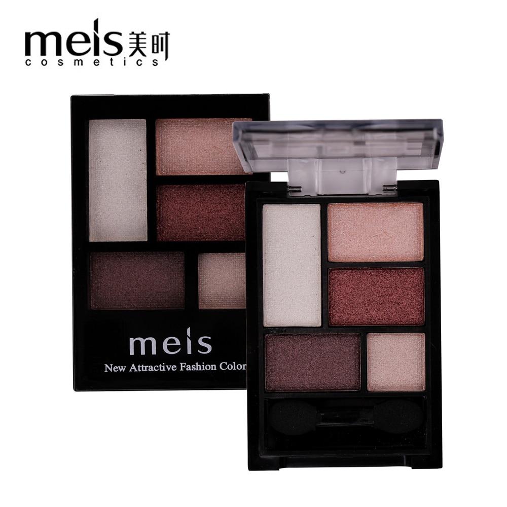 MEIS Brand Makeup Kosmetik Professionel Makeup 5 Farver Øjenskygge Øjenskygge Palette Matte Øjenskygge Øjenskygge Palette MS040C
