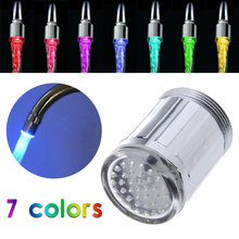 7 Colorful Tap Nozzle LED Light Faucet Water Shower Creative Drop Shipping Changing Colors TE Faucets