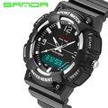 Led Digital Reloj de Lujo Marca SANDA Deporte Moda Casual Relogio masculino reloj Hombre Militar Para Hombre Relojes de pulsera de Silicona