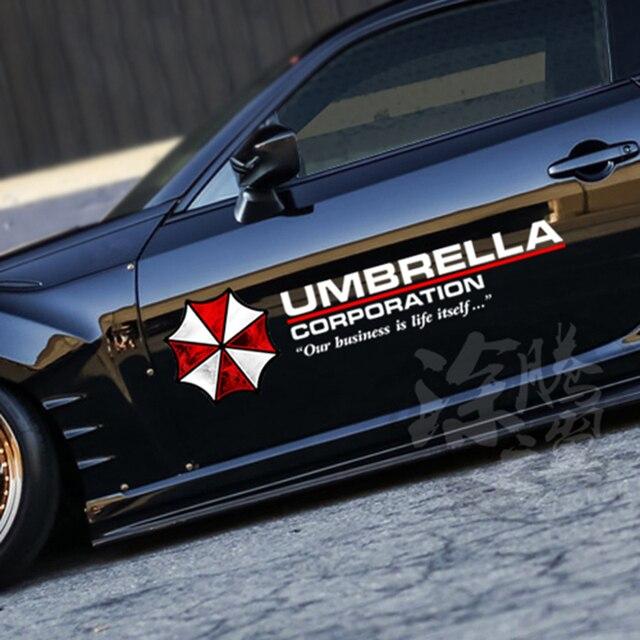 35-90cm Colored Umbrella Corporation Car Styling PVC Sticker Side Door Body Garland Hood Sun Roof Fuel Cap Cool Decoration Decal