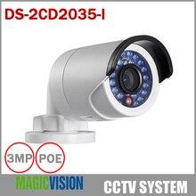 Multi-language Full HD 1080P DS-2CD2035-I Instead DS-2CD2032F-I IP Camera Mini Outdoor Bullet CCTV Camera POE Camera