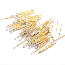 P100-LM2 Length 33.35mm Imperial Crown Head Metal Spring Test Probe Nickel-Plated Tool For Detecting Circuit Boards