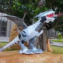 Большой размер 47 см электронный ходячий динозавр ревущий мигающий светильник робот обучающая игра машина подарок для детей игрушки
