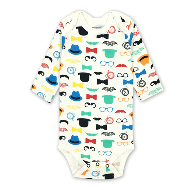 Baby Girls Boy Clothes Long Sleeve Newborn Babies   Romper   All Cotton Knit Fabric Cute Cartoon Print Infant Clothing