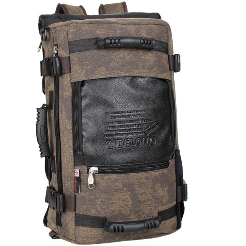 Brand Design Mens Travel Bags Fashion Men Backpacks Mens Multi-purpose Travel Backpack Multifunction Shoulder Bag
