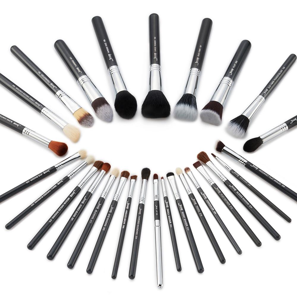 Conjunto de 27 Uds., juego de brochas de maquillaje profesional, base de belleza, sombra para el rostro, lápices labiales en polvo, Kit de maquillaje, herramientas T133 - 6